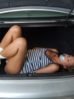 Craving Carmen was a bad girl and ended up in the trunk of a car